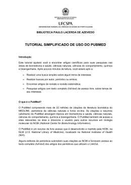 TUTORIAL SIMPLIFICADO DE USO DO PUBMED