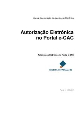 Autorização Eletrônica no Portal e-CAC