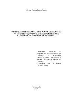 Miriam Conceição dos Santos PONTO CANTADO, ENCANTANDO