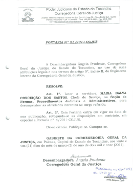 21/2011-cgjus - Tribunal de Justiça do Estado do Tocantins