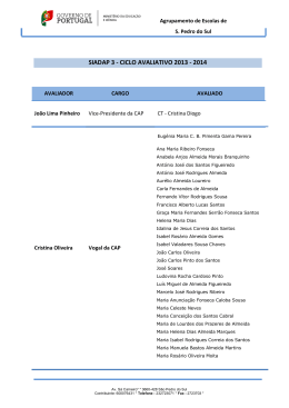 SIADAP 3 - CICLO AVALIATIVO 2013 - 2014