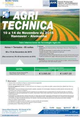 Agritechnica com aéreo 2015 - AHK (POA)