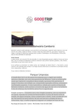 Balneario Camboriu - Good Trip Turismo