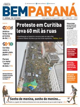 Protesto em Curitiba leva 60 mil às ruas