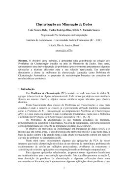 Clusterização em Mineração de Dados