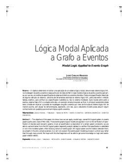 Lógica Modal Aplicada a Grafo a Eventos