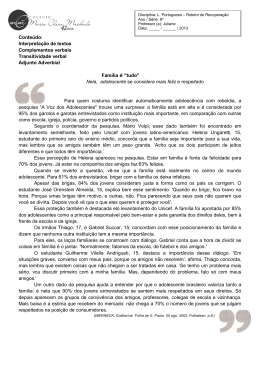Lingua Portuguesa 8º Ano - Colégio Maria Clara Machado