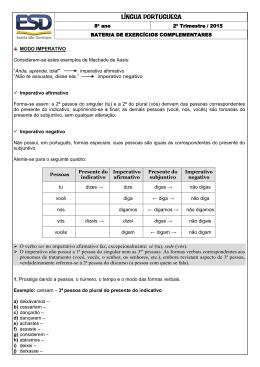 Língua Portuguesa - Escola São Domingos