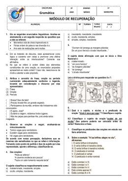 MÓDULO DE RECUPERAÇÃO - Colégio Oliveira Castro
