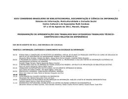 1 XXIV CONGRESSO BRASILEIRO DE BIBLIOTECONOMIA