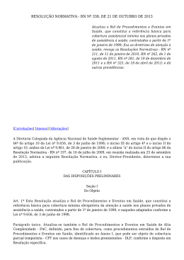 Resolução Normativa n° 338