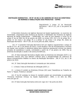 INSTRUÇÃO NORMATIVA - IN Nº 25 DE 12 DE JANEIRO DE 2010