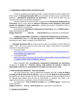1- ATENDIMENTO AMBULATORIAL EM PUERICULTURA