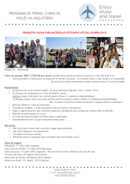 programa de férias: curso de inglês na inglaterra