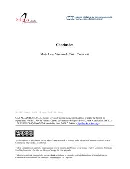 Conclusões - SciELO Livros
