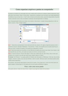 Dicas para a organização de ficheiros