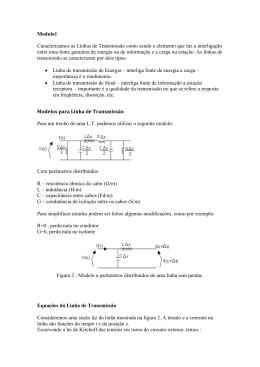 Modulo1 Caracterizamos as Linhas de Transmissão como sendo o