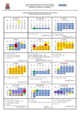 Calendário Acadêmico 2015 - Pós-greve