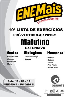 EXTENSIVO - Matutino