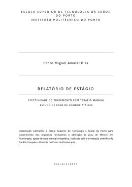 relatório de estágio - Repositório Científico do Instituto Politécnico