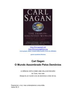Carl Sagan O Mundo Assombrado Pelos Demônios