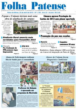 Folha Patense, 25/04/15