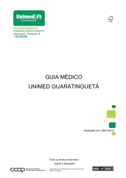 GUIA MÉDICO UNIMED GUARATINGUETÁ