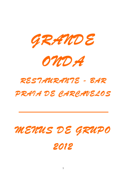 MENUS DE GRUPO 2012