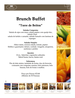 Brunch Buffet - TextoVirtual.com