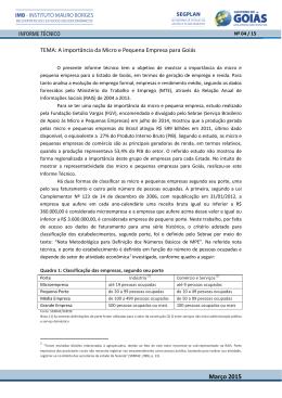 4 A importância da Micro e Pequena Empresa para Goiás