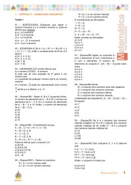 Exercicios extras Matematica