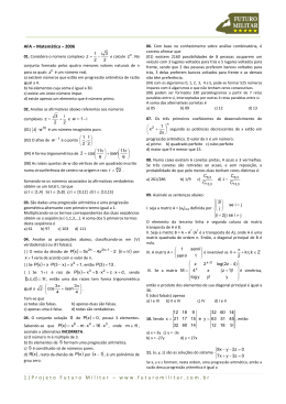 2006 - Matemática - AFA - Projeto Futuro Militar