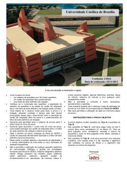 prova - Universidade Católica de Brasília