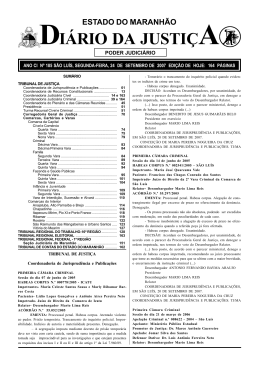 diário da justiça - Portal do Poder Judiciário do Estado do Maranhão