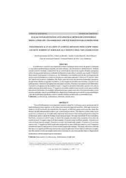 avaliação parasitológica em amostras obtidas de