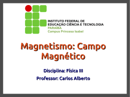 Magnetismo: Campo Magnético