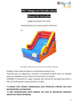 Mini Tobogã com Entrada Lateral Manual de instruções