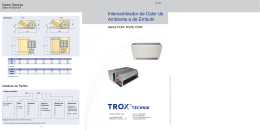 Intercambiador de calor de ambiente e de embutir - Tipos