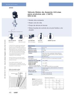 46 Válvula Globo de Assento 3/2-vias para produtos até +180°C