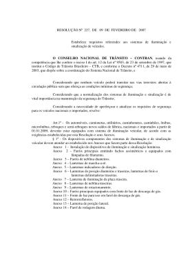 RESOLUÇÃO Nº 227, DE 09 DE FEVEREIRO DE 2007