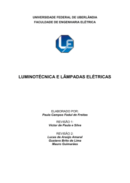luminotécnica e lâmpadas elétricas