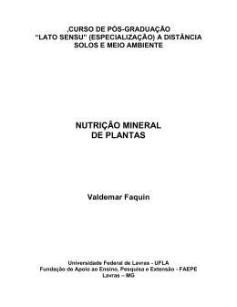 CAPÍTULO 1 - DCS - Departamento de Ciência do Solo ( UFLA )