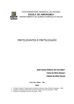 Fertilizantes e fertilização