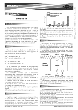 (Exercicios 04) DOMUS Apostila 01 - BIOLOGIA I