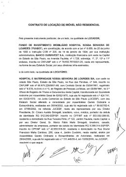 CONTRATO DE LOCAÇÃO DE IMÓVEL NÃO RESIDENCIAL