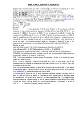 EDITAL DE PRAÇA, COM PRAZO DE 05 (CINCO)