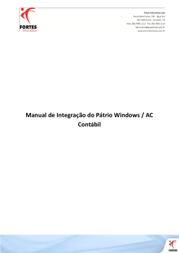 Manual de Integração do Pátrio Windows / AC