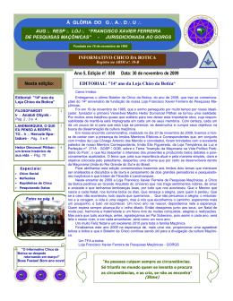 Número 38 - Publicado em 30/11/2009