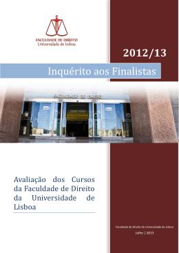 Inquérito aos Finalistas | 2012/2013