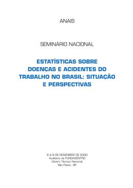 estatísticas sobre doenças e acidentes do trabalho no brasil